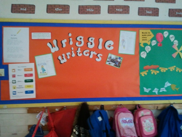 One of Wriggle Room Writer displays before it got filled up!