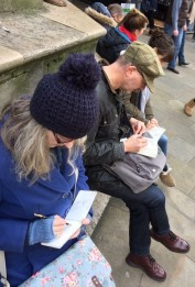 Thanks to Sketchcrawl organizer, Paul Morton, for the photo of me sketching